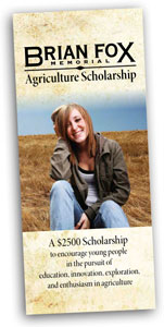 download the Brian Fox Agricultural Scholarship brochure PDF